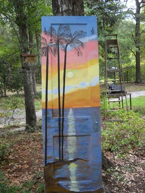 Custom Made Hand Painted Door Hall Tree