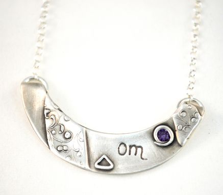 Custom Made Om Silver Necklace