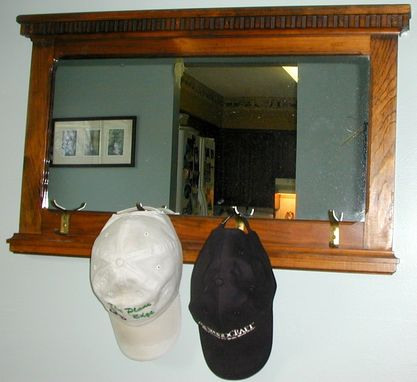 Custom Made Walnut-Stained Wall Mirror