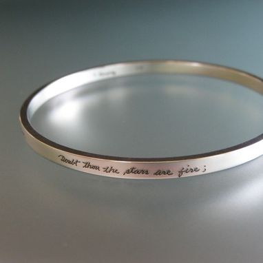Personalized Sterling Silver Bangle Bracelet Engraved