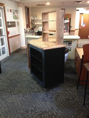 Custom Made Rolling Island With Reclaimed Oak Counter Top