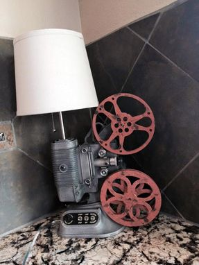 Custom Made Vintage 8mm Projector Table Lamp