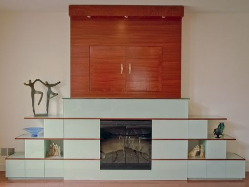 Custom Made Fireplace Media Unit