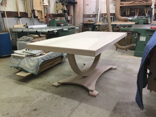 Custom Made Unfinished Birch Arch Dining Table