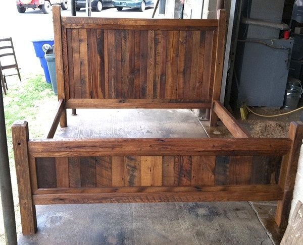 Buy Hand Made King Size Bed Frame Made With Beveled Posts, made to ...