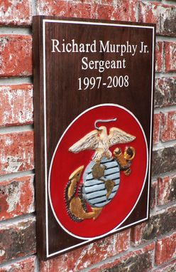 Custom Made Usmc Wall Anniversary Or Memorial  Wall Sign Or Plaque 3d Walnut