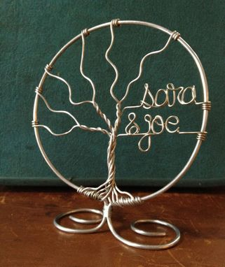 Custom Made Personalized Family Tree Wedding Cake Topper