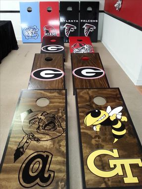 Custom Made Corn Hole Board Games ! (Corn Toss)