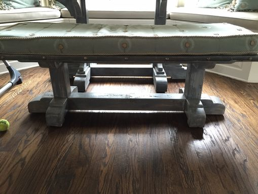 Custom Made Zinc Table And Bench