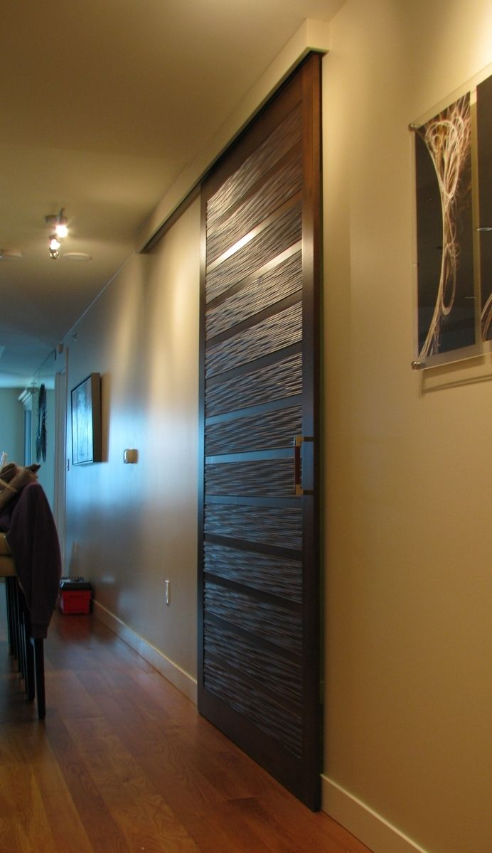 Sliding Barn Door Designs: Custom Made Contemporary Sliding Barn Door By Heartwood