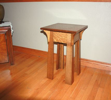 Custom Made Mission Style Lamp Table