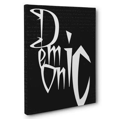 Custom Made Demonic Canvas Wall Art