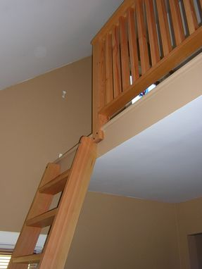 Custom Made Loft Ladder And Railing