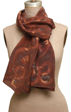 Custom Made Yoga Sutra 1 & 2 Earthy Scarf