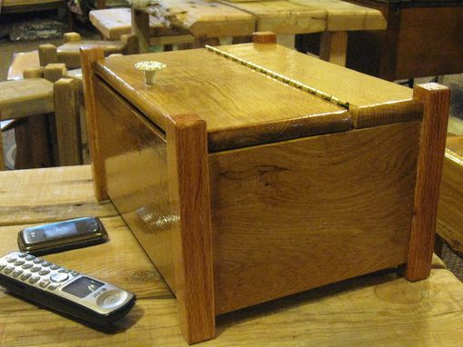 Custom Made Wooden Box For Remotes
