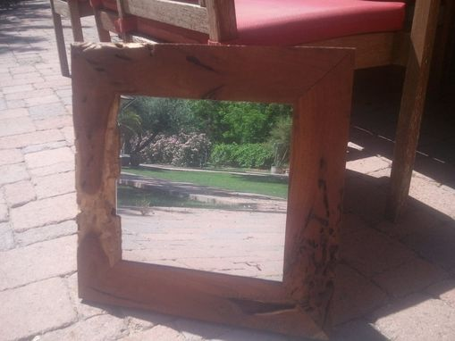 Custom Made Mirror In Mesquite Wormwood Frame