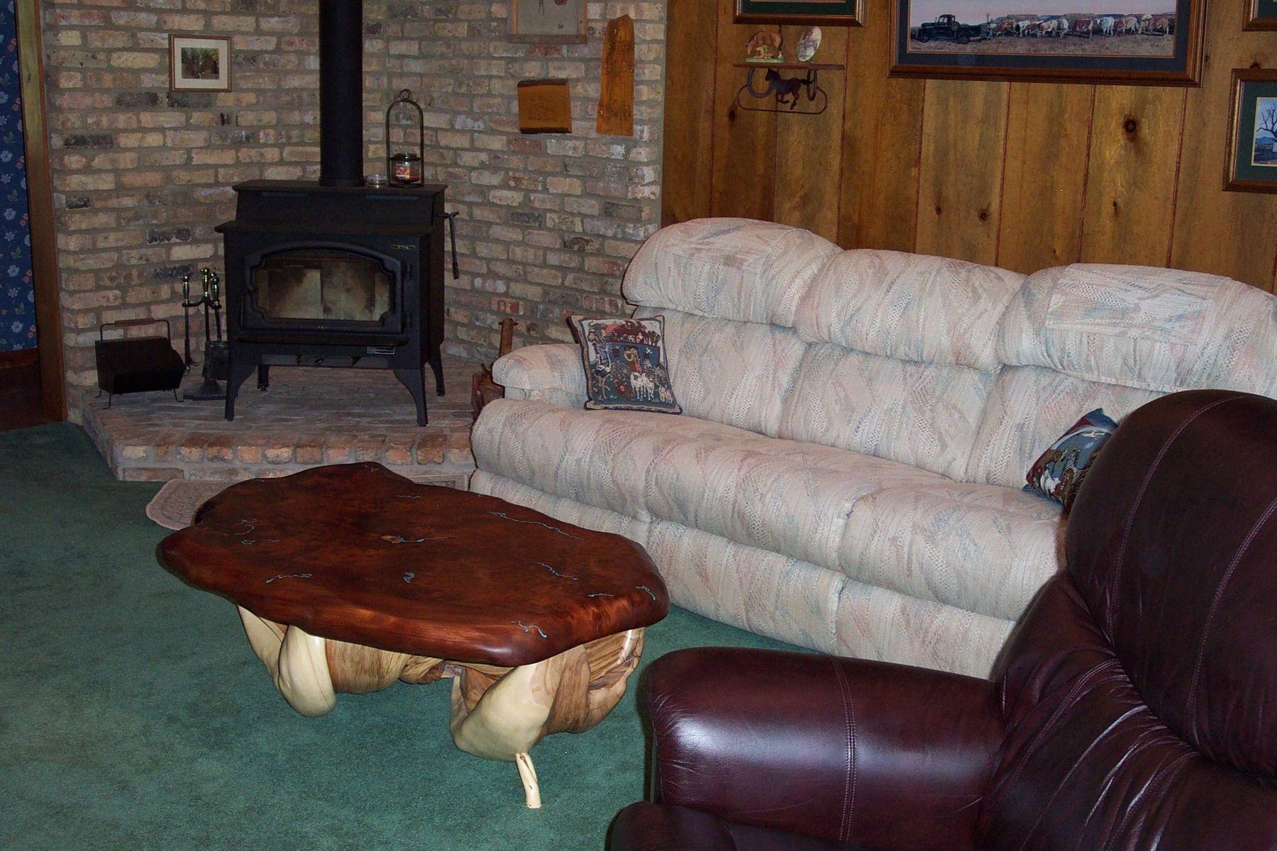 Custom redwood slab coffee table turquoise stone inlay twisted custom made redwood slab coffee table turquoise stone inlay twisted juniper base geotapseo Images