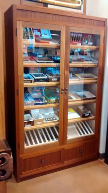 Custom Made Large Retail Humidor Display Cabinet