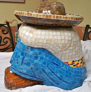 Custom Made Siesta Time Mosaic Garden Sculpture