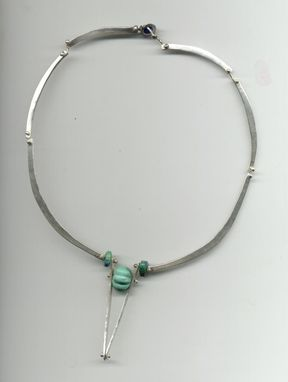 Custom Made Turquoise And Sterling Necklace