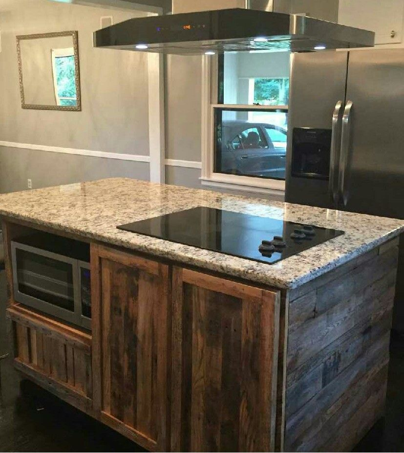 barnwood kitchen island made reclaimed barnwood kitchen island by wmww 1488