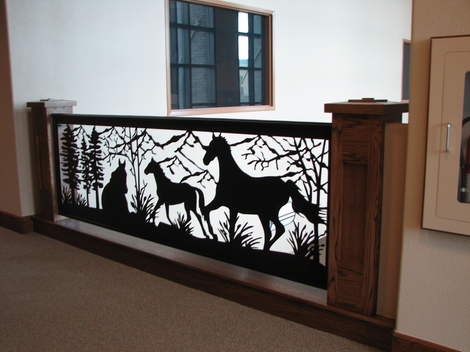 Custom Railing Art Is In Style Horse Mountain Design Balcony By