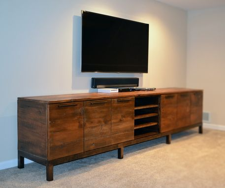 Custom Made Reclaimed Wood Media Center Console