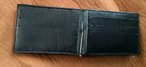 Custom Made Sokoto Goatskin Card Wallet With Money Clip