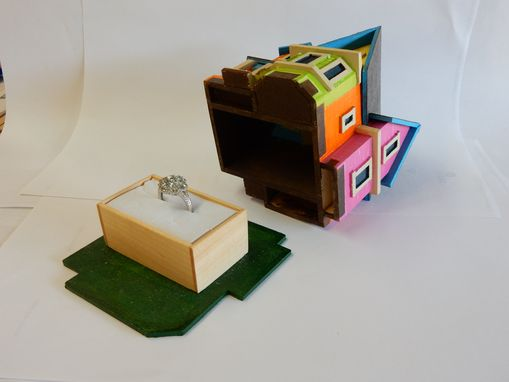 "Custom Made ""Up House"" Engagement Ring Box"