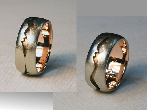 "Custom Made Sterling And Rose Gold ""Jagged Canyon"" Ring"