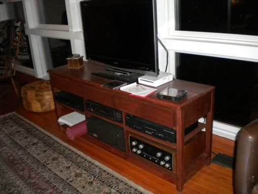 Custom Made Cherry Tv/Stereo Table