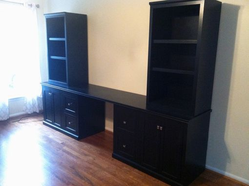 Custom Made Logan Desk And Tower Bookcases