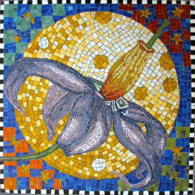 Custom Made Glass Mosaic Flower
