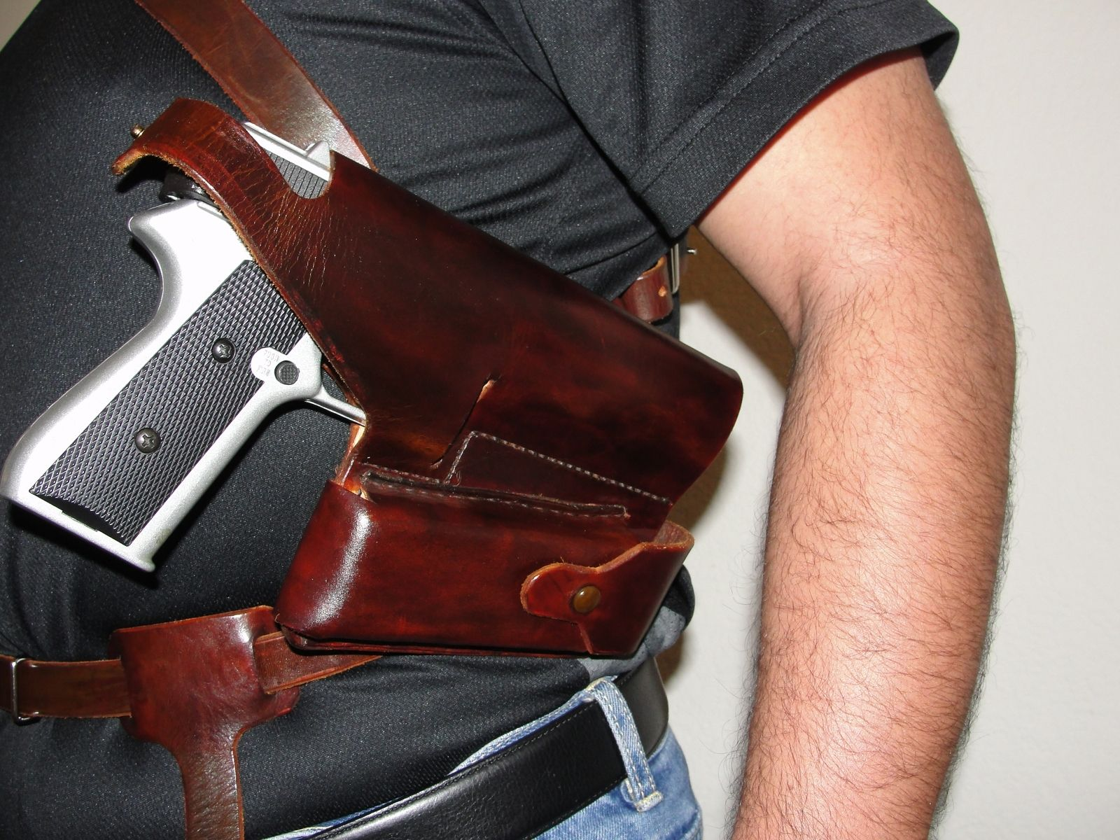 Handmade Colt 1911 Under Arm Shoulder Holster By