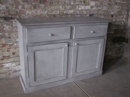 Custom Made Side Board With Gray Finish.