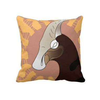 Custom Made Mungo Throw Pillow (Regular Or Lumbar)