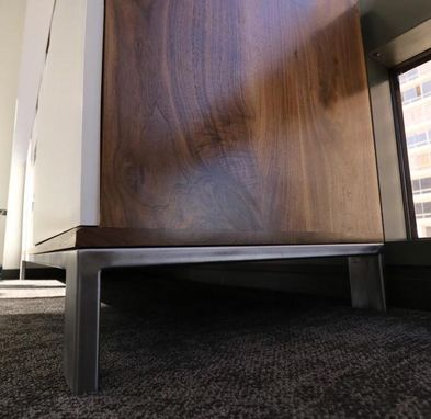 Custom Made Post Modern Solid Walnut Credenza