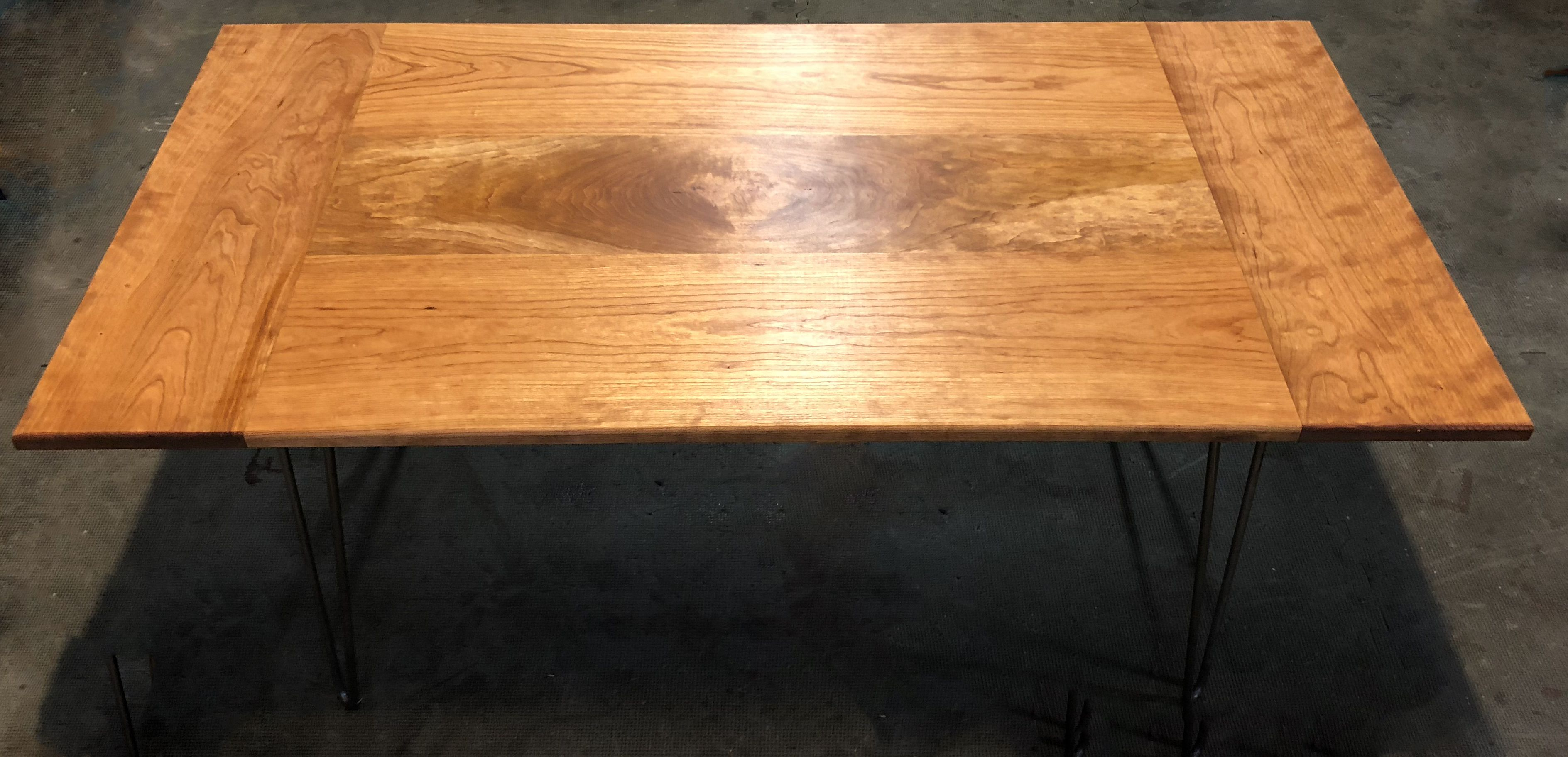 Picture of: Buy Hand Crafted Solid Cherry Coffee Table With Burl Inlay And Harpin Legs Made To Order From Mr Woodworking Custommade Com