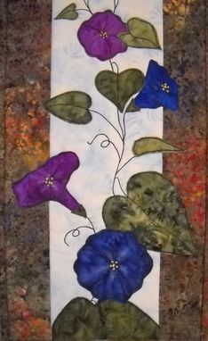 Custom Made Morning Glories Wall Quilt