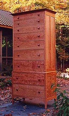 Custom Made Tall Chest Of Drawers