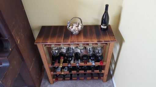 Custom Made Wine Barrel Freestanding Wine Rack