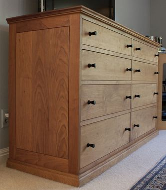 Custom Made Cherry And Ebony 8 Drawer Dresser