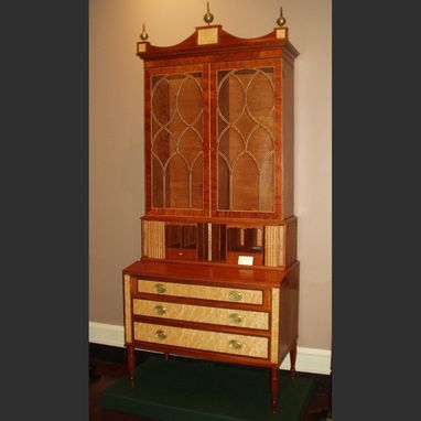 Custom Made Mahogany Sheraton Secretary