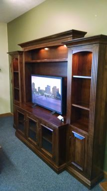 Custom Made Berlin Entertainment Center Wall Unit In Brown Maple