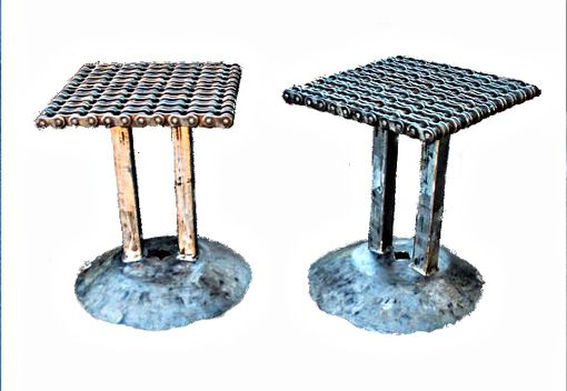 Custom Made Metal End Side Table, Welded Furniture