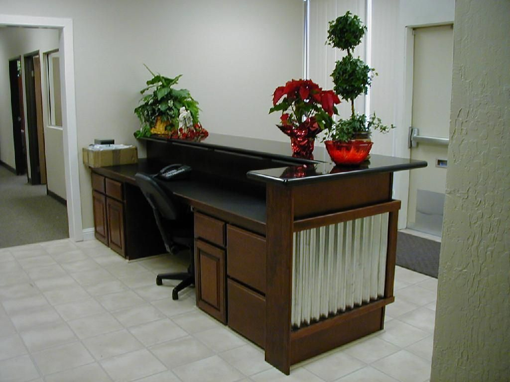 cool custom reception desk furniture | Custom Made Reception Desk by Dan Farrace Fine Woodworking ...