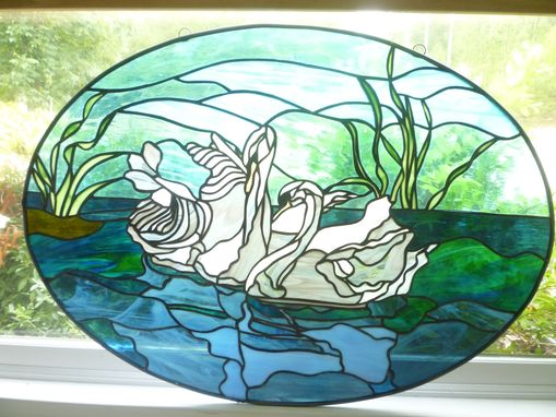 Custom Made Swans Hanging Panel - Available For Sale