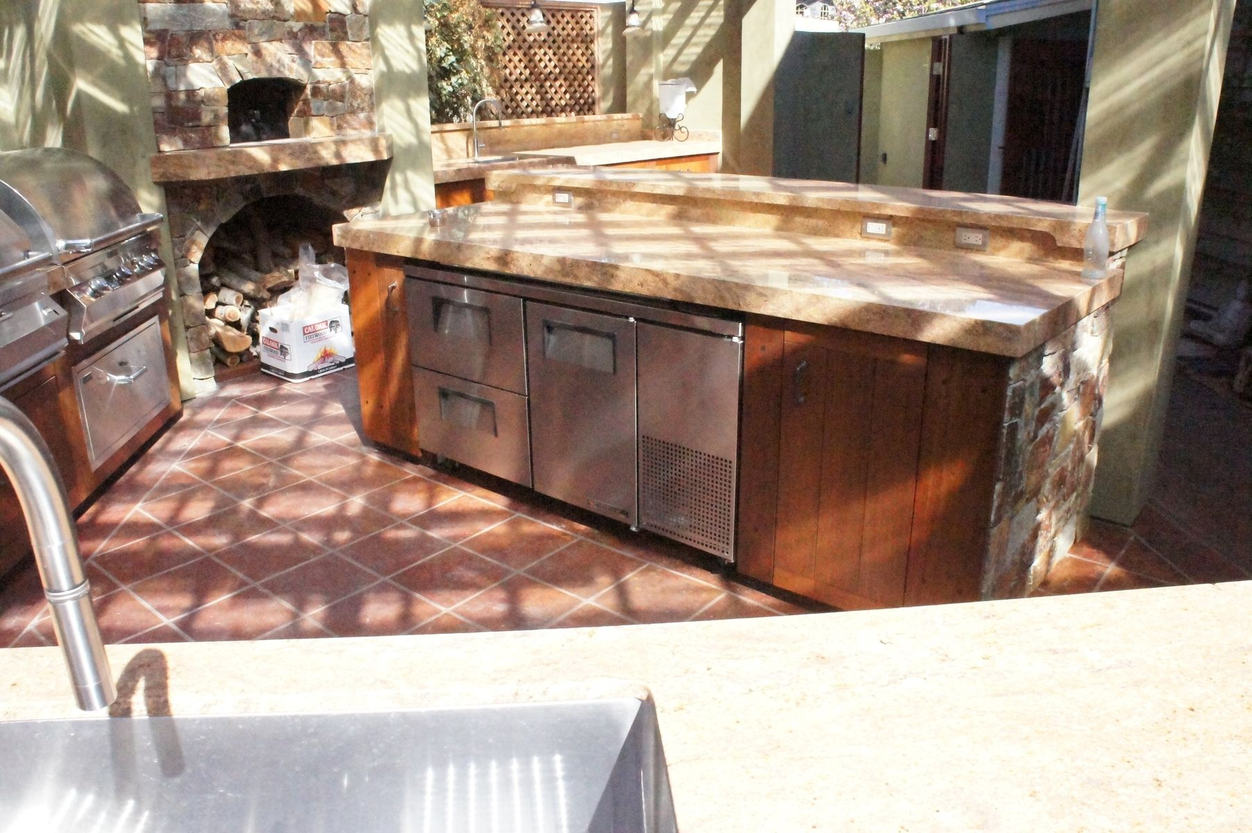Hand Crafted Ipe Outdoor Kitchen Cabinetry by Atlas Stringed