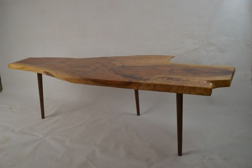 Custom Made Heavily Figured Live Edge Pecan Coffee Table
