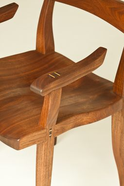 Custom Made Walnut Low Back Side Chair